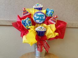 Happy Birthday Cookies Bouquet