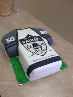 Raiders Football Jersey Cake
