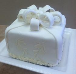 White on White Fondant Cake