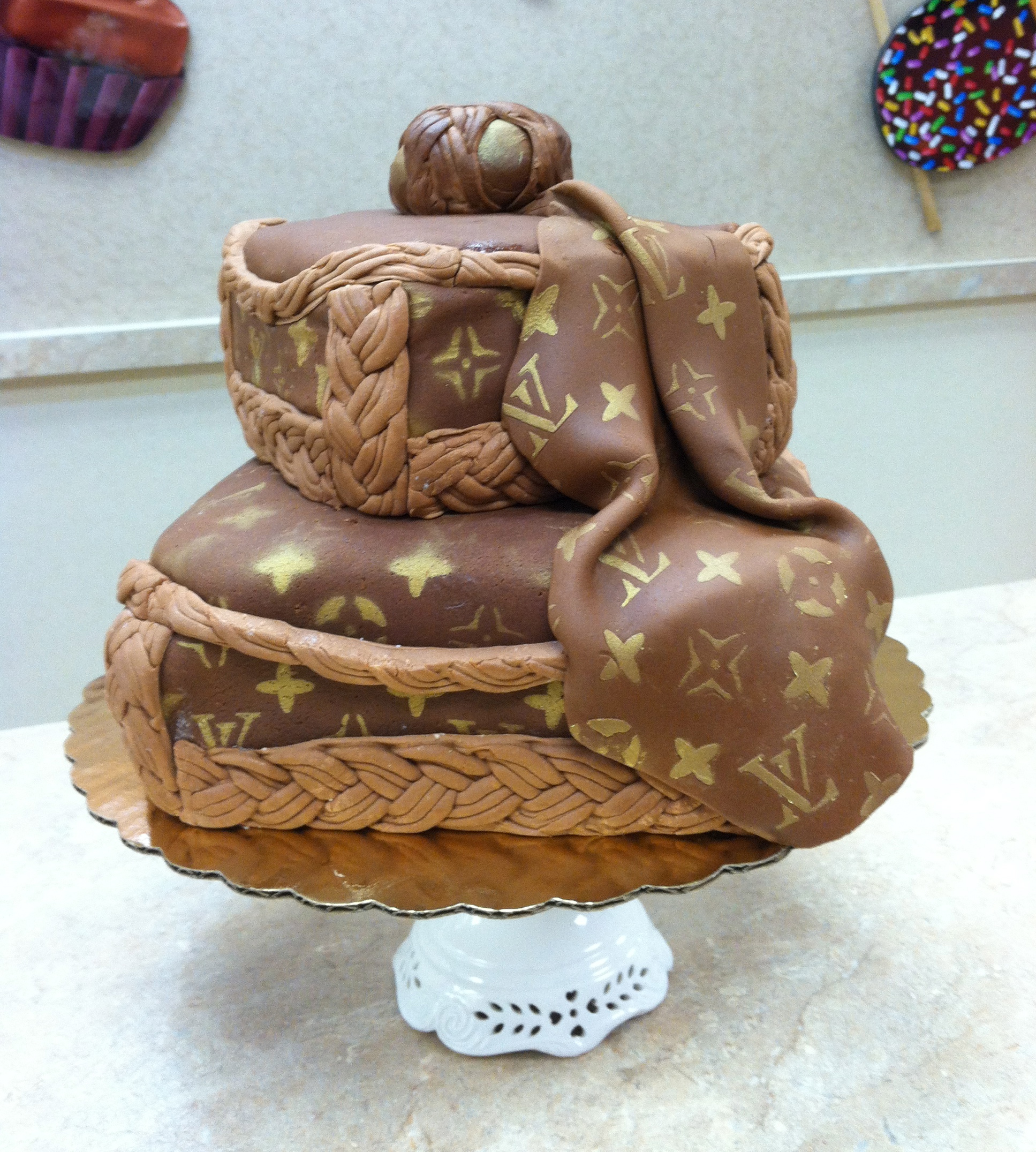 Louis Vuitton Logo Cake