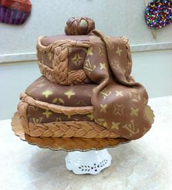 Louis Vuitton Logo Cake