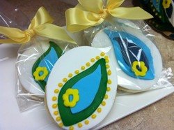 Blue Green Decorative Sugar Cookies
