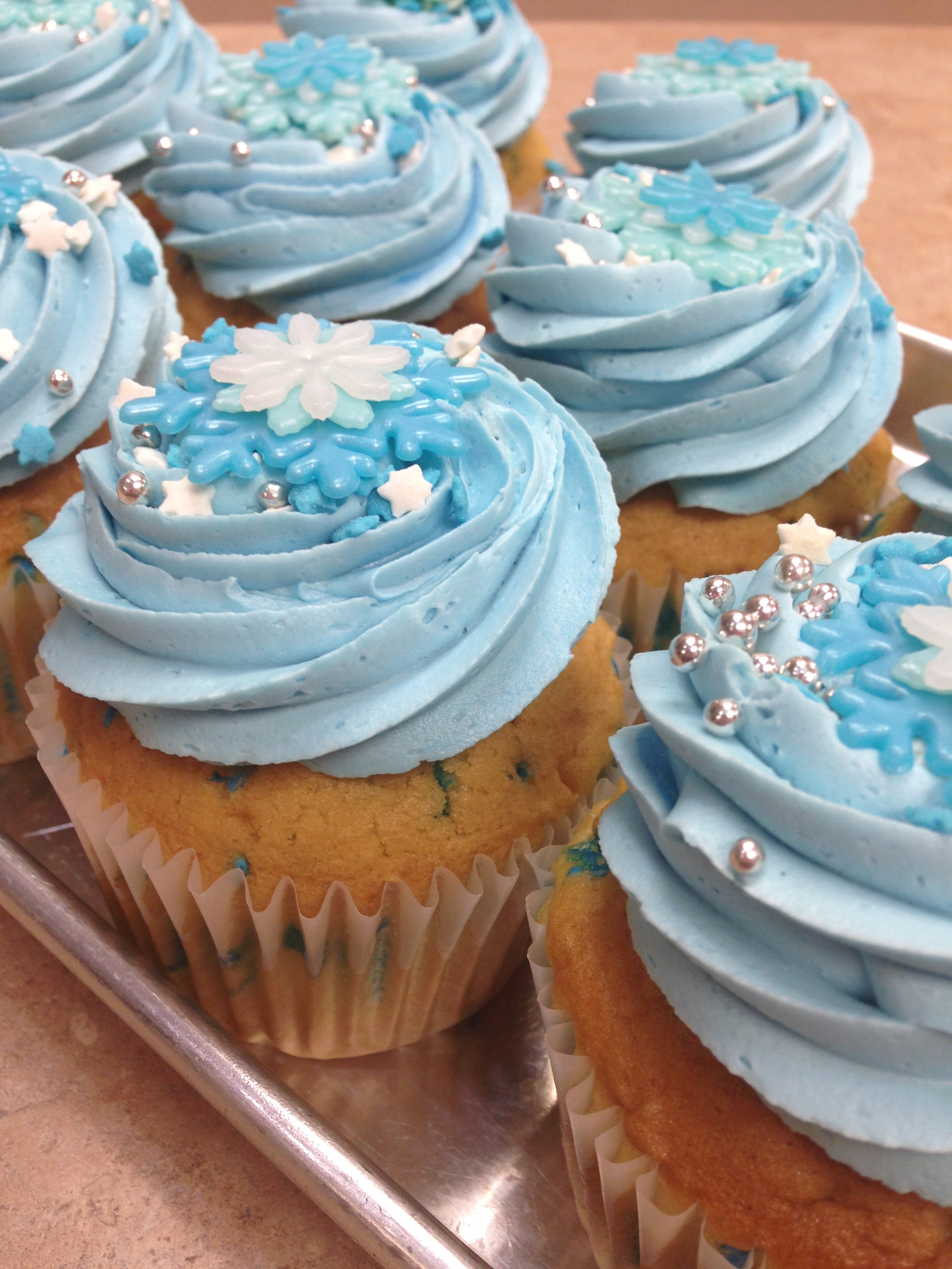 Winter Theme Cupcakes