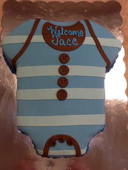 Baby Boy Onesies Cake