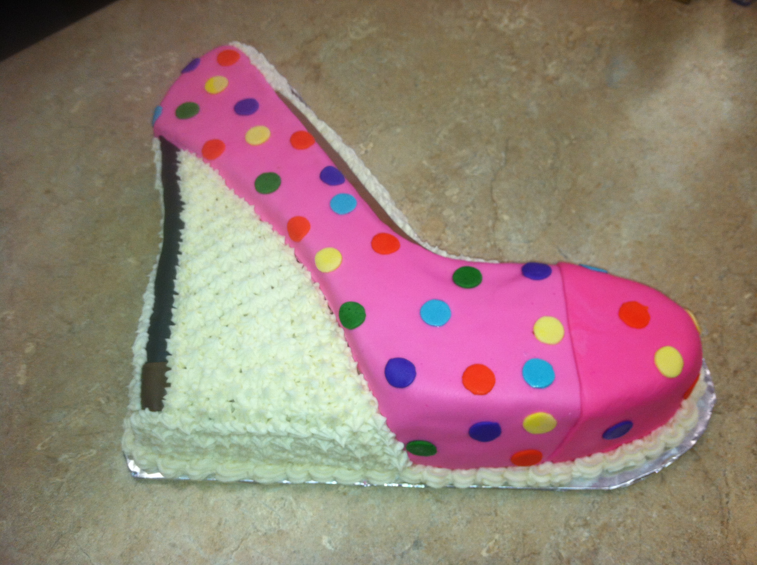 High Heel Buttercream Cake