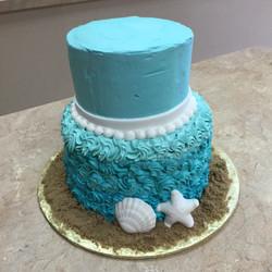Teal Buttercream Cake