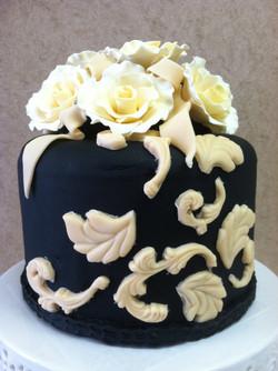 Ivory Roses Fondant Cake