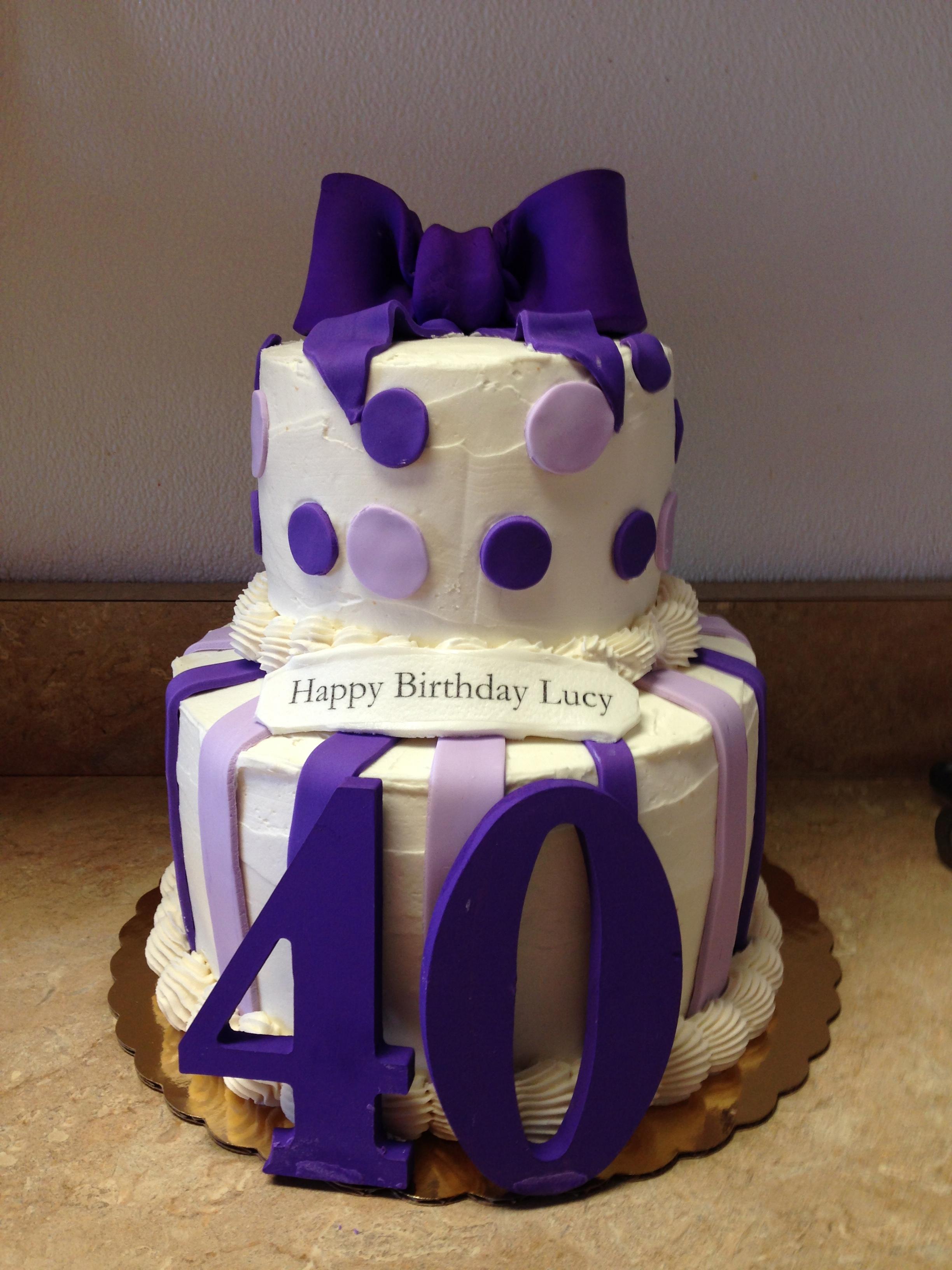40's Birthday Cake