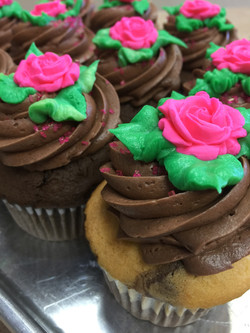 Chocolate With Flower Cupcakes