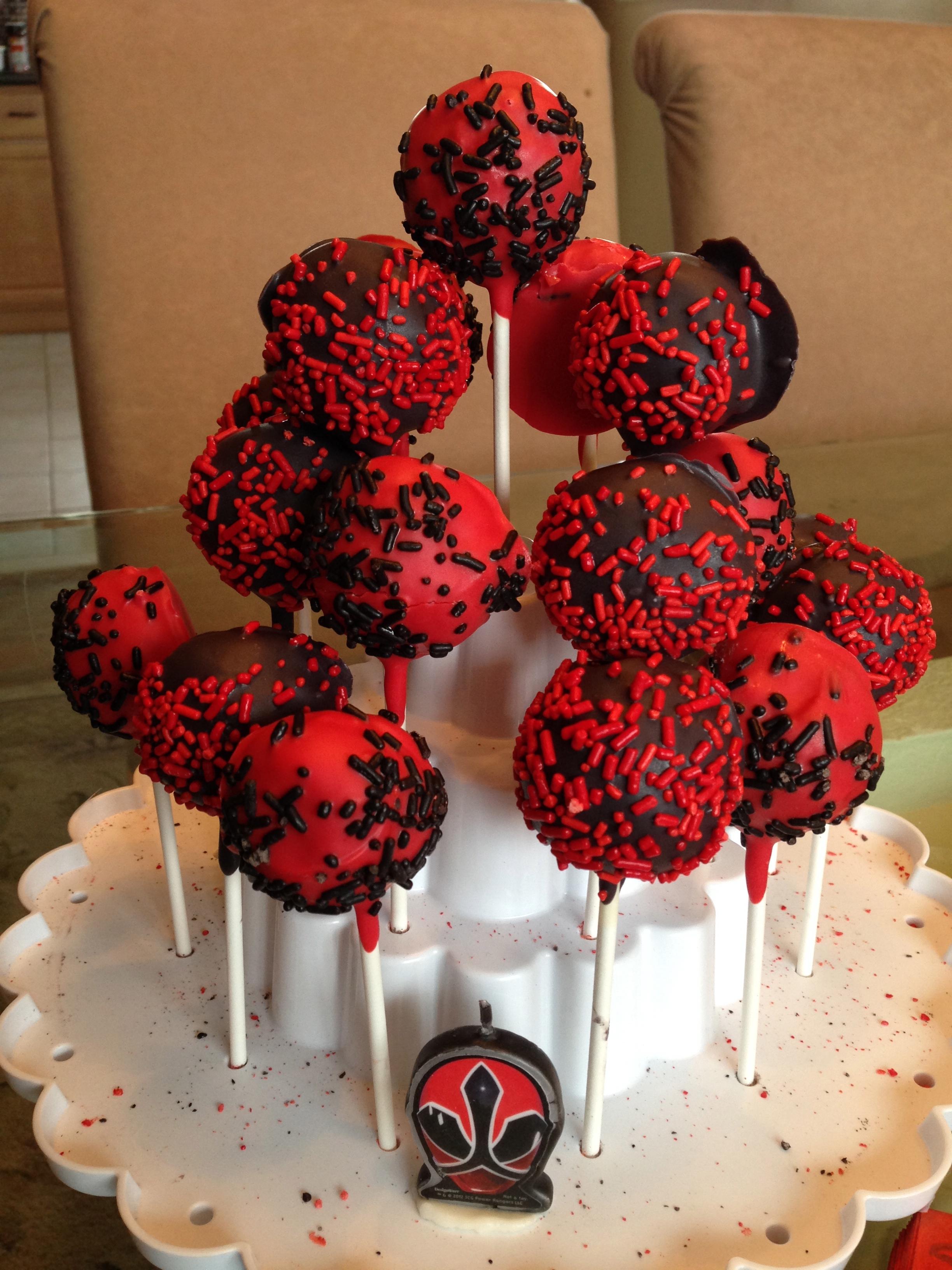 Red & White Cake Pops
