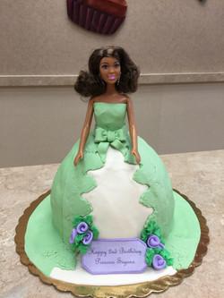 Barbiedoll Cake