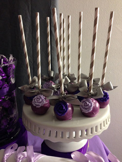 Purple Rose Cake Pops