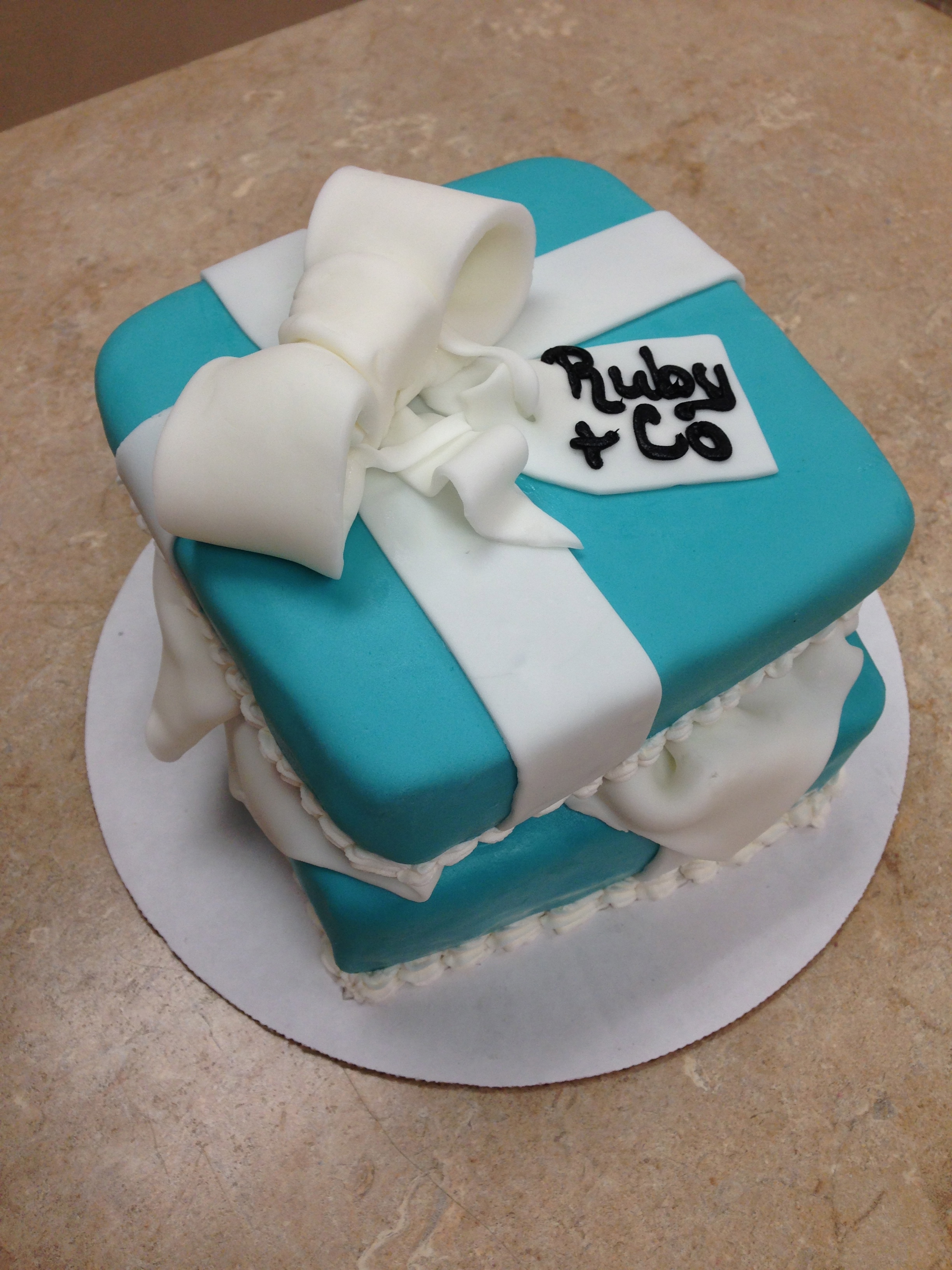 Open Tiffany Box Cake