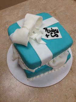 Open Tiffany Box Cake