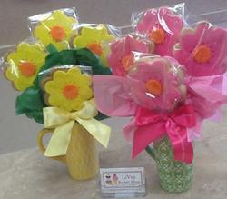Flower Cup Cookie Bouquet