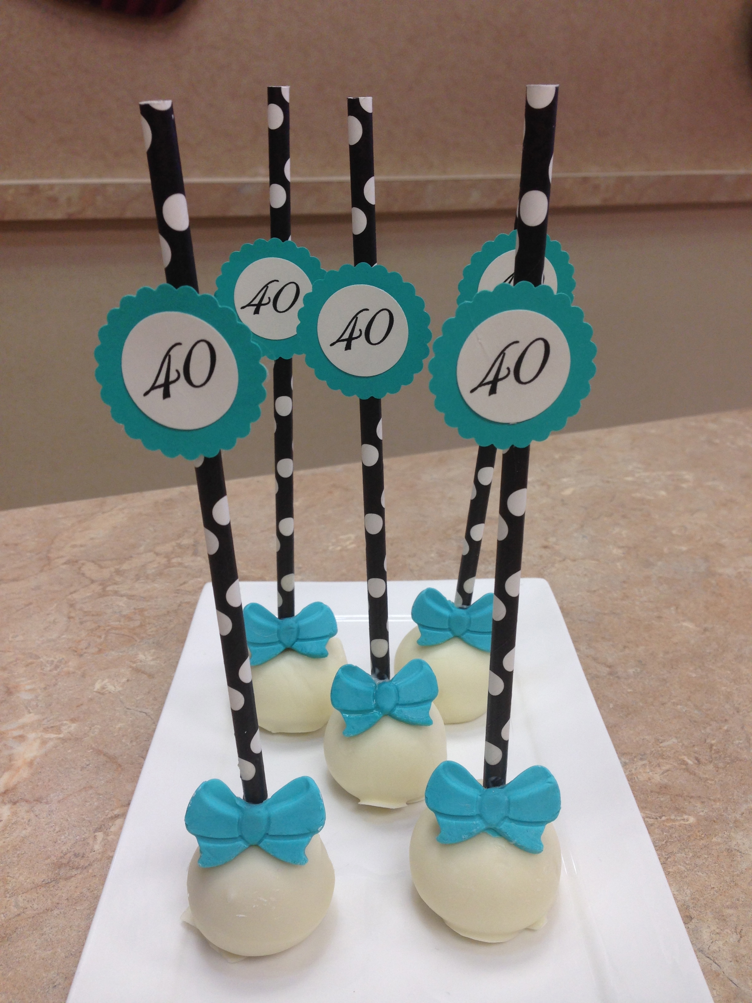 40th Birthday Party Cake Pops