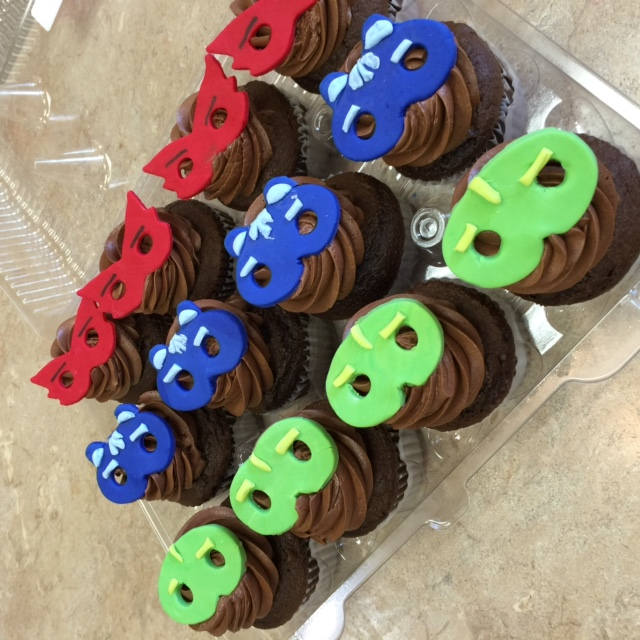 PJ Mask Cupcakes