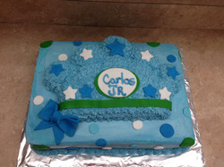 Baby Boy Crown Sheet Cake