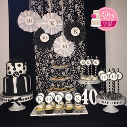 Black And White Dessert Table