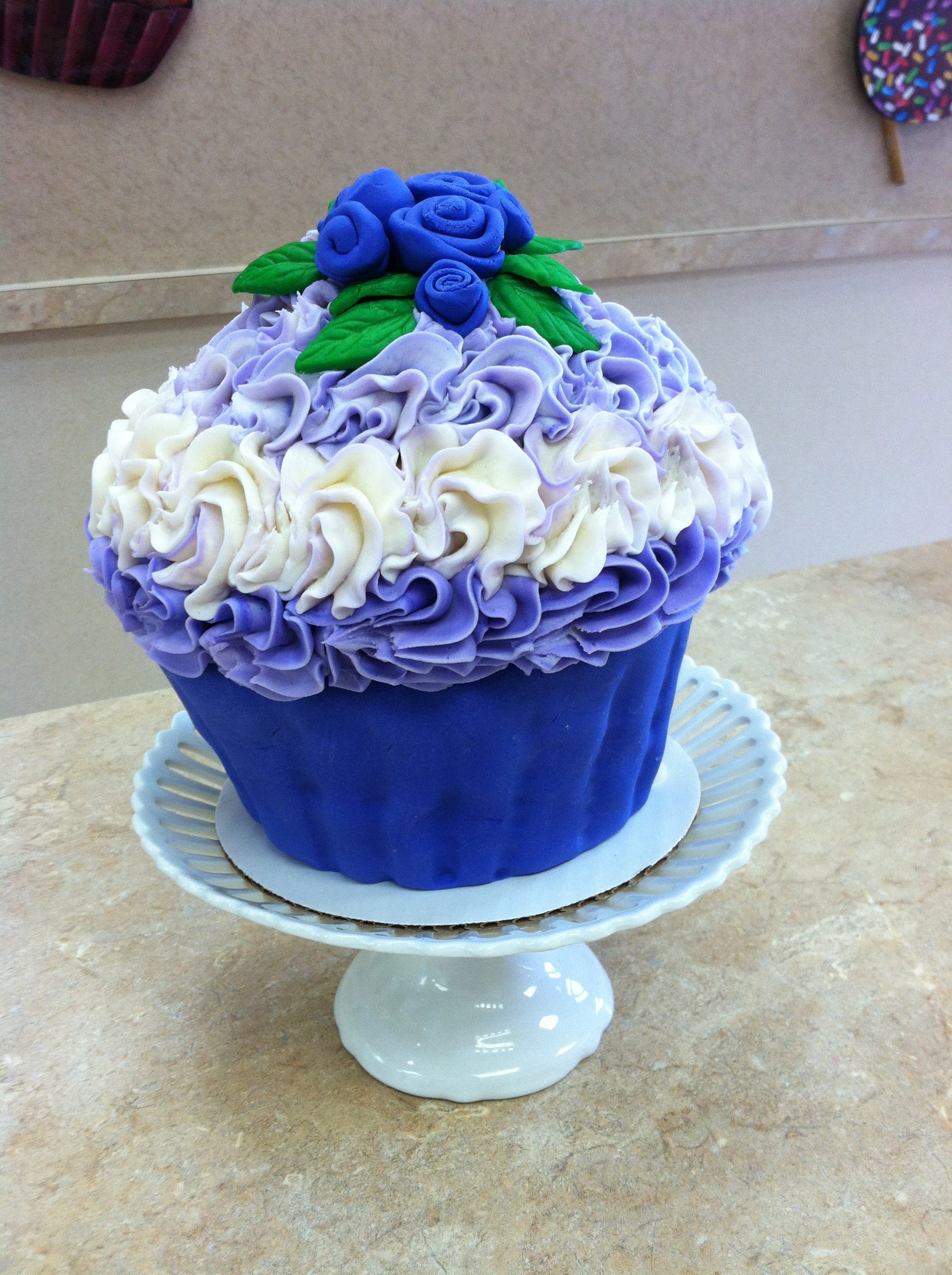 Blue And White King Size Cupcake