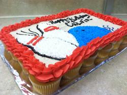 Bowling Cupcake Cake