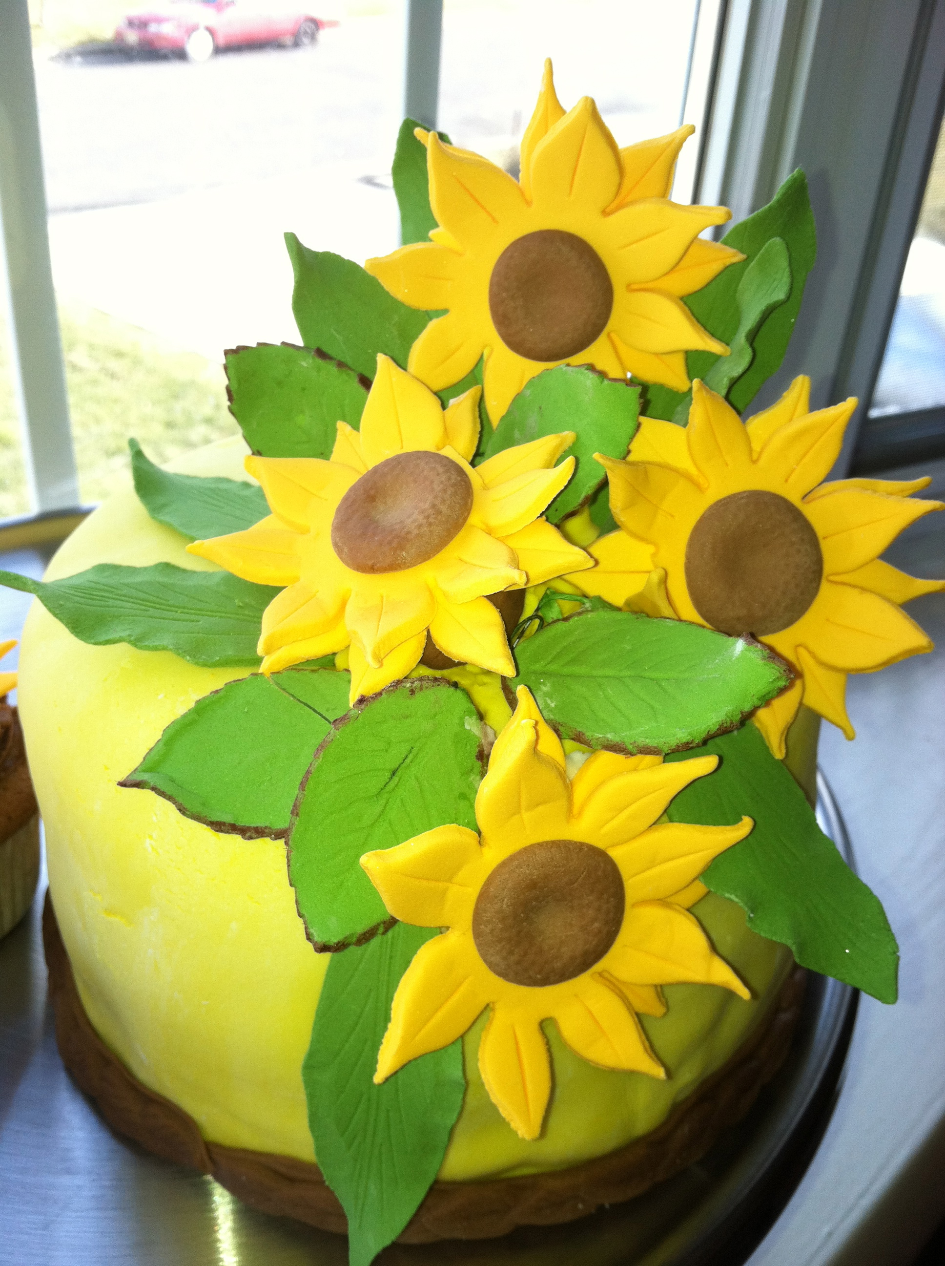 Sunflower Fondant Cake