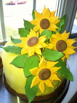 Sunflower Fondant Cake