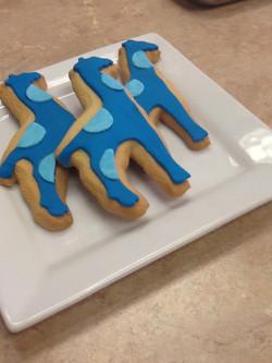 Blue Giraff Cookies