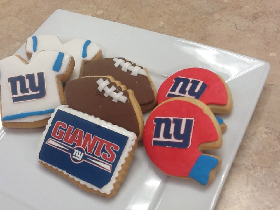 Giants Football Cookies
