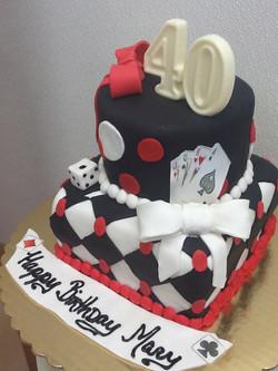 Poker Theme Fondant Cake