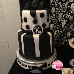 Black and White Fondant Cake