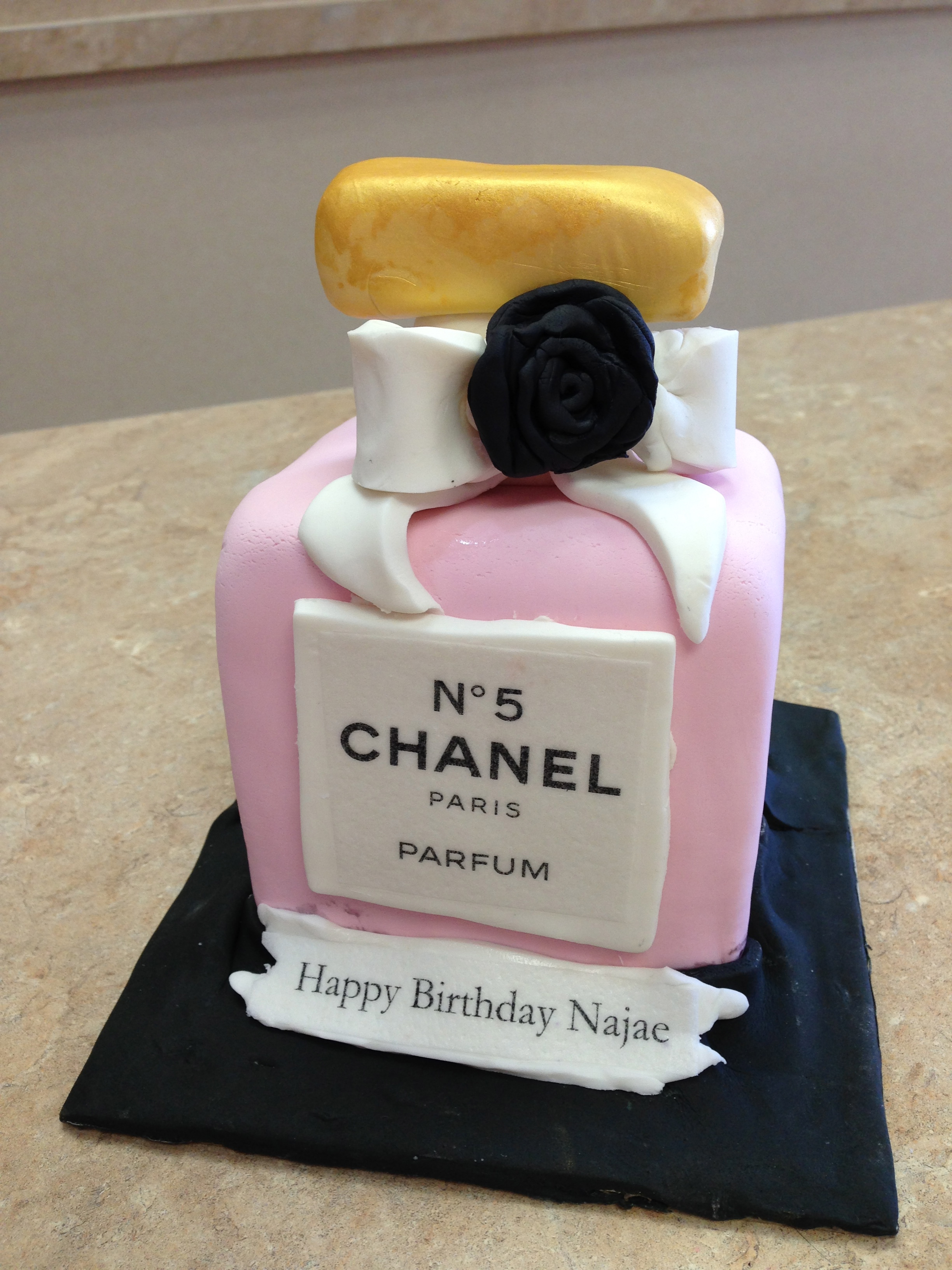 Chanel Perfume Bottle Cake