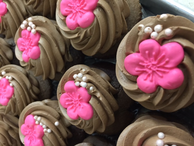 Little Pink Flower Cupcakes