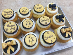 Black and Gold Birthday Cupcakes