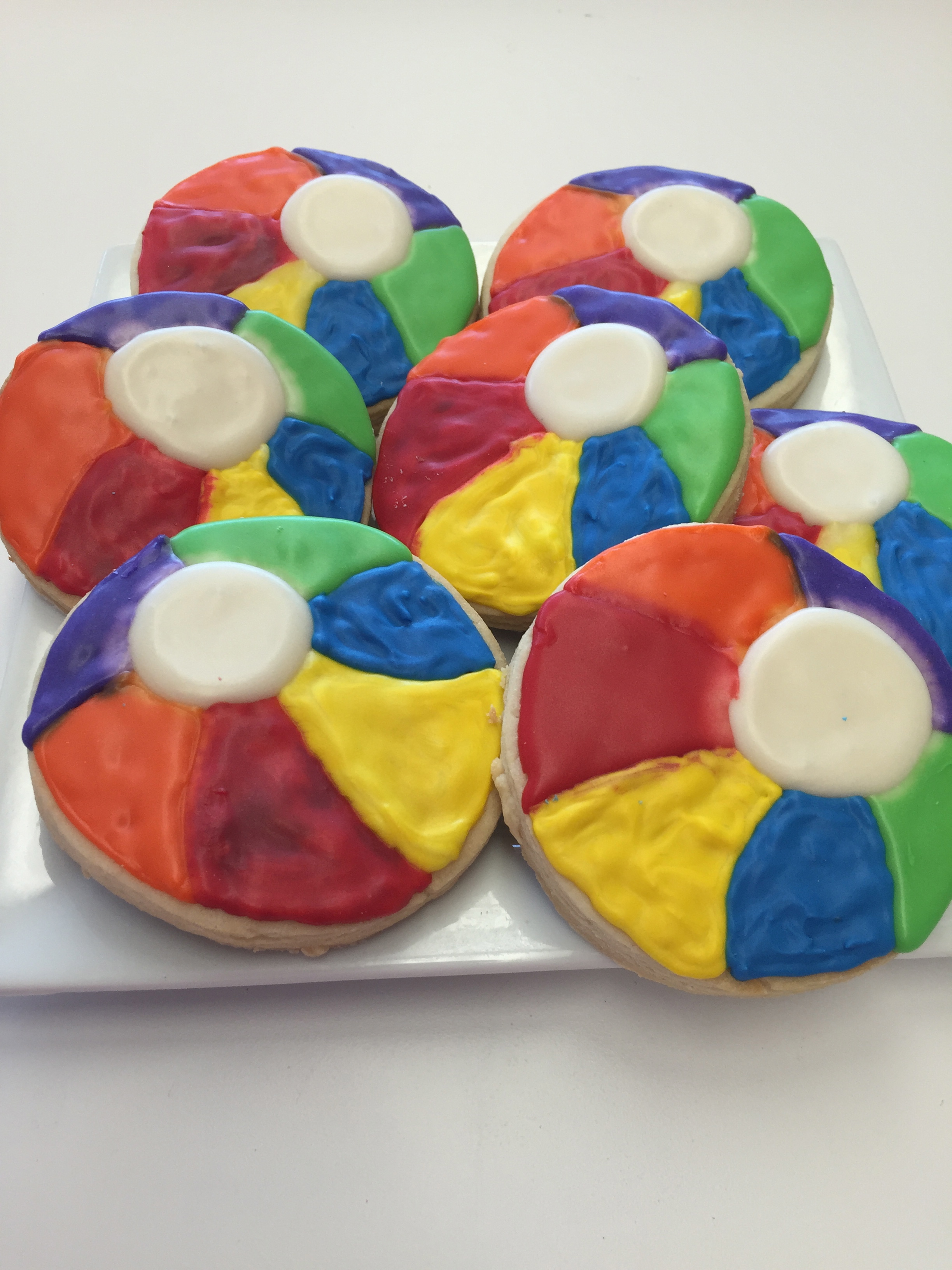 Beachball Cookies