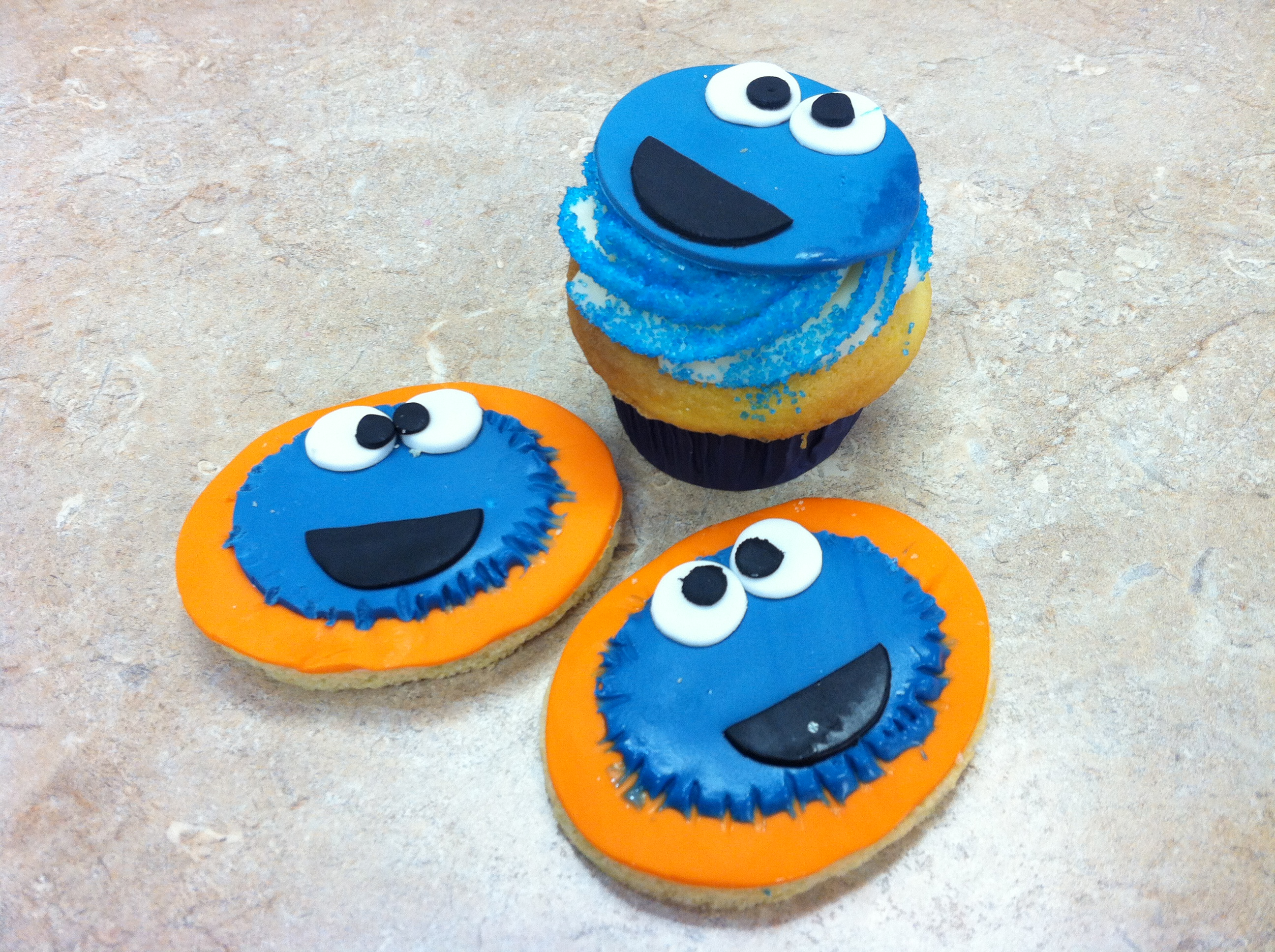 Cookies Monster Cookies and Cupcakes