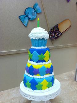 Cupcake Tower Cake