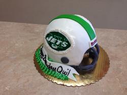 Jets Football Helmet Cake