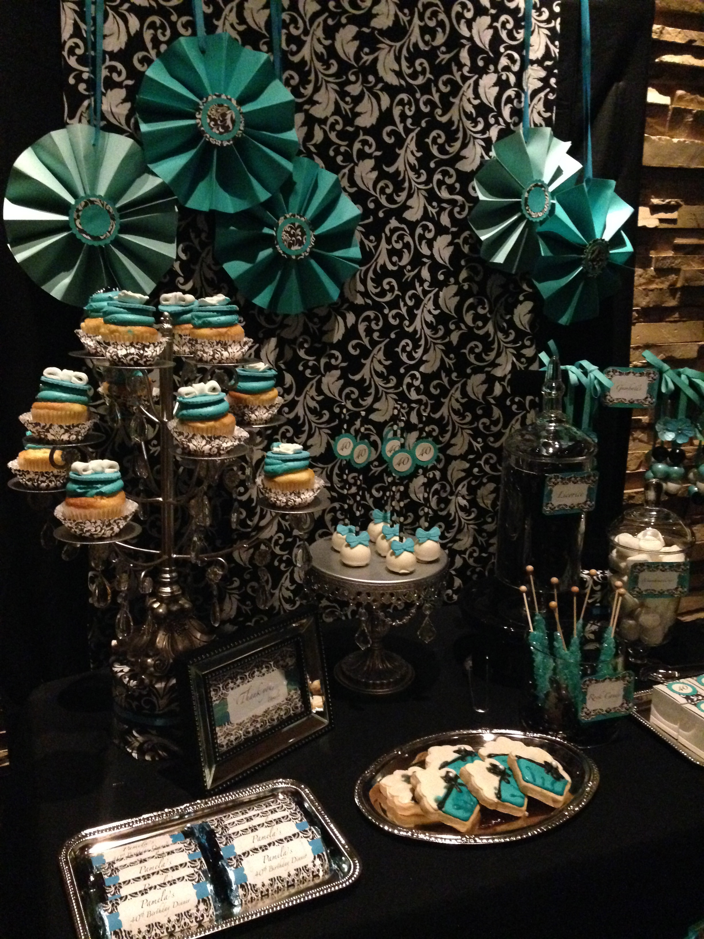 Turquoise Blue Dessert Table