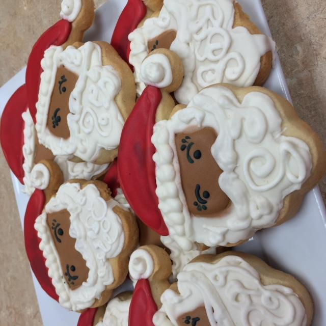 Black Santa Cookies