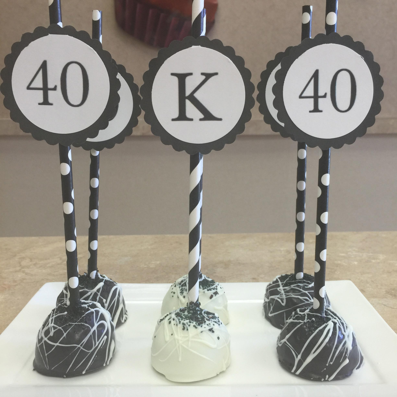 40th Cake Pops