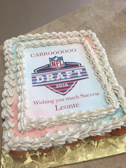 NFL Draft Cupcake Cake