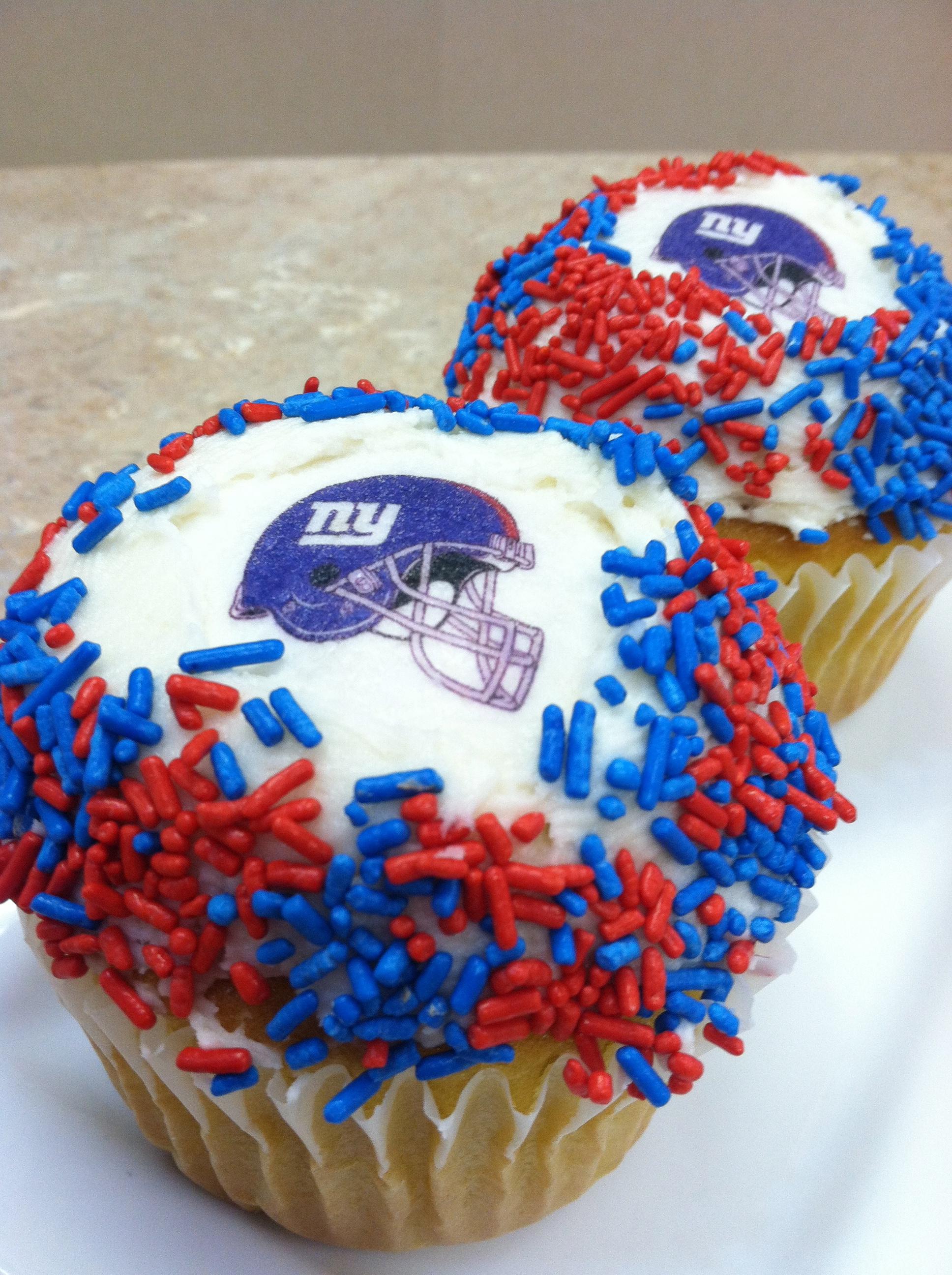 NY Giants Cupcakes