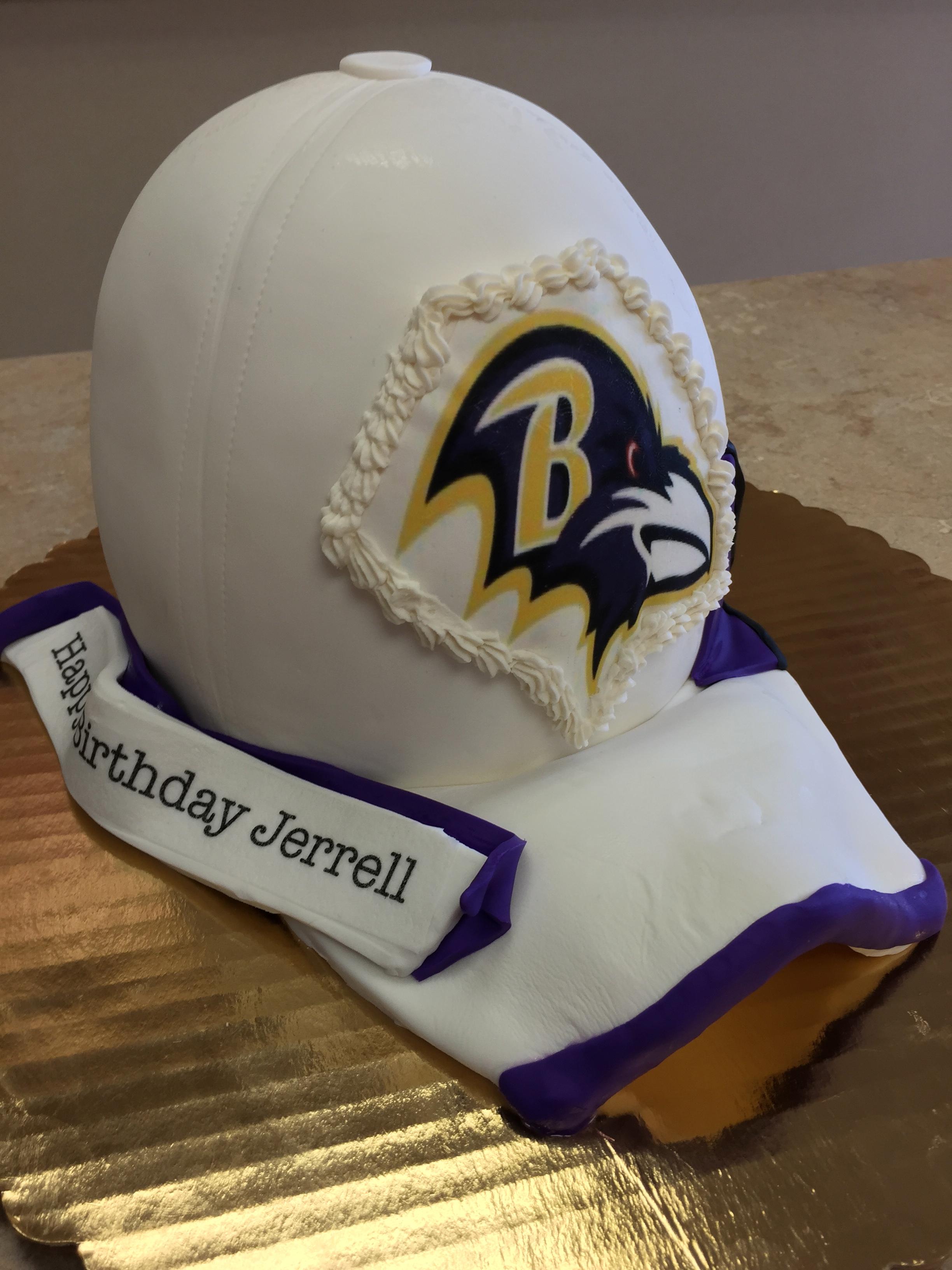 Football Hat Cake