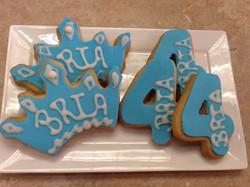 Crown and Number Cookies