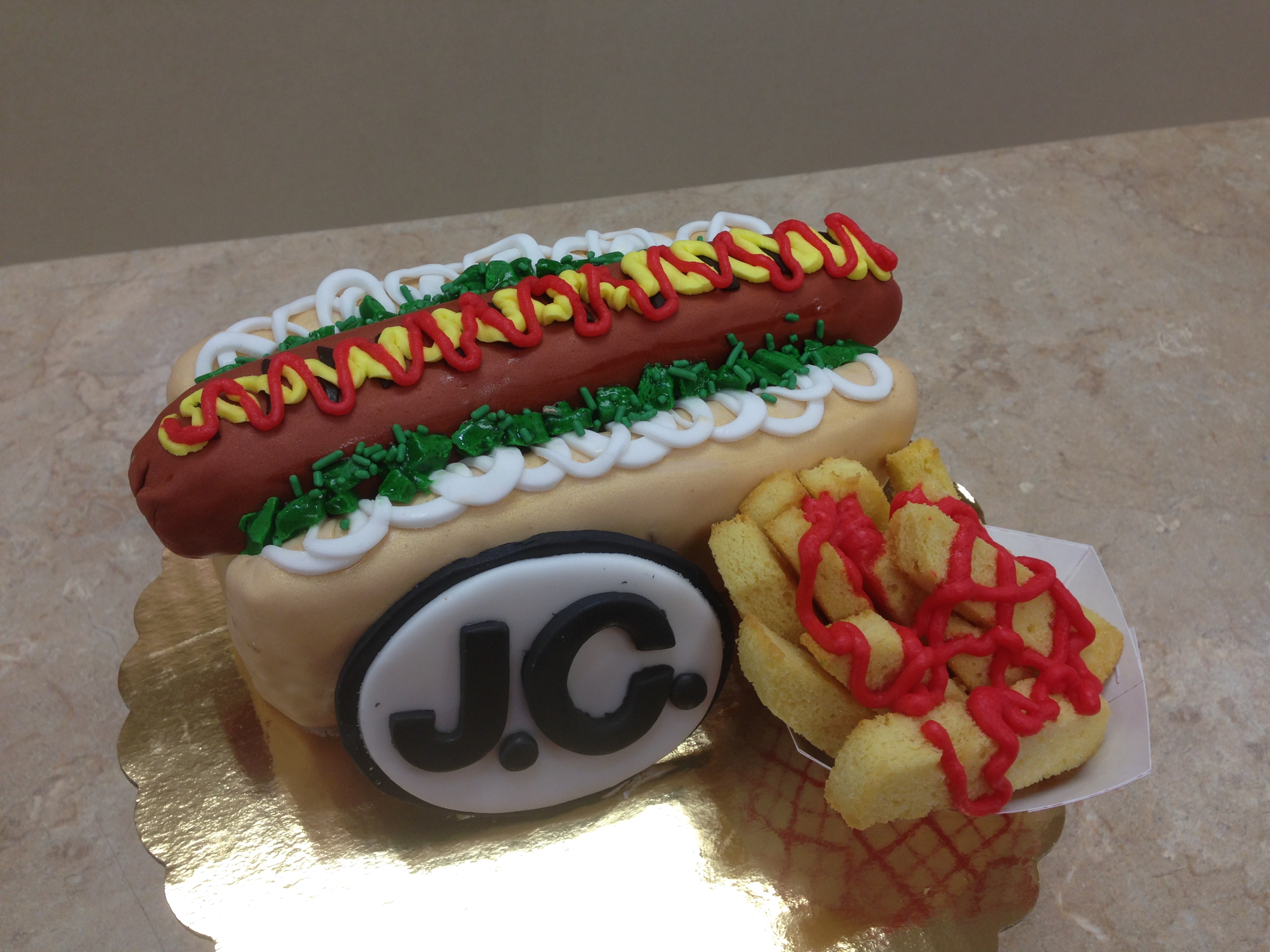 Hot Dog and Fries Cake