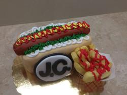 Hot Dog and Fries Cake