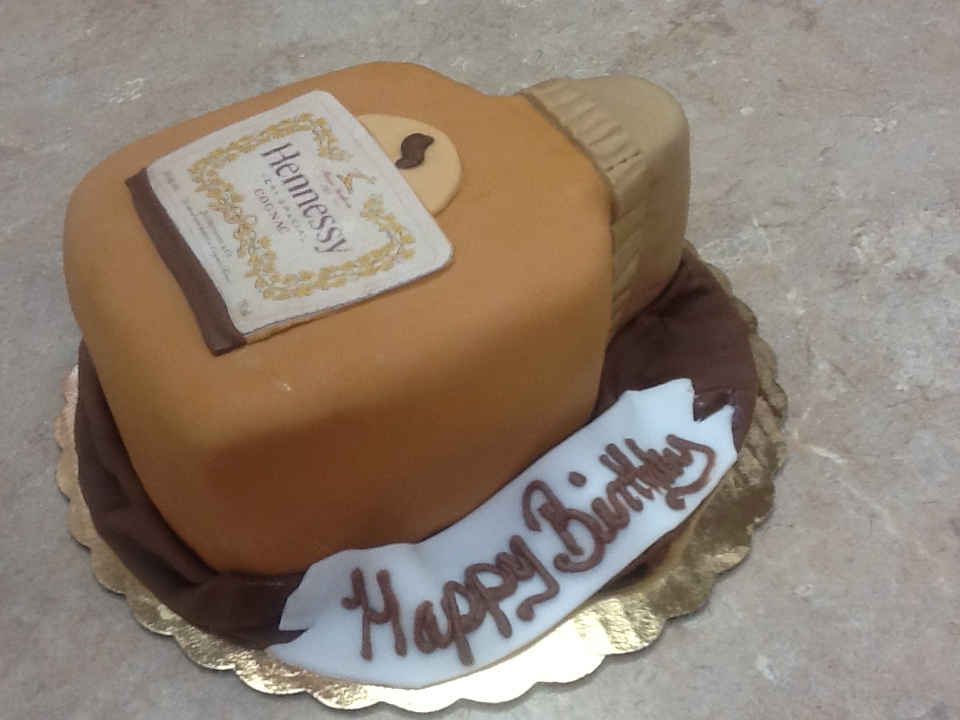 Hennessy Pint Bottle Cake