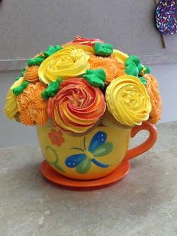 Cupcake Tea Cup Bouquet