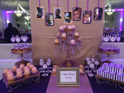 Purple And White Dessert Table